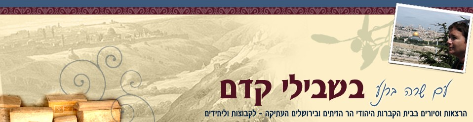 שרה ברנע    הרצאות וסיורים מודרכים בבית הקברות היהודי הר הזיתים ובירושלים העתיקה – לקבוצות וליחידים   מדריכת טיולים מוסמכת